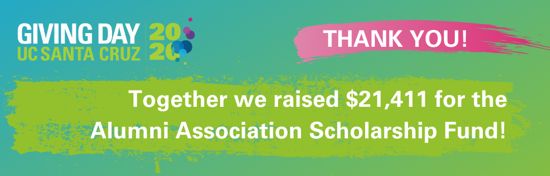 Thank you! Together we raised $21,411 for the the Alumni Association Scholarship Fund!