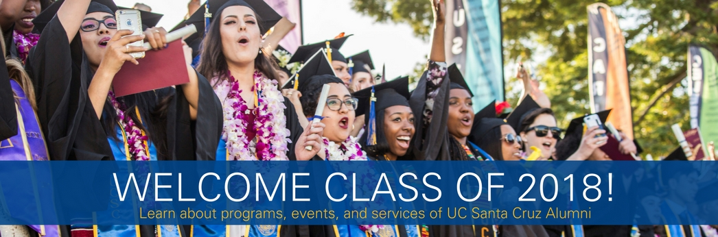 Welcome Class of 2017! Learn about programs, events, and services for UC Santa Cruz Alumni