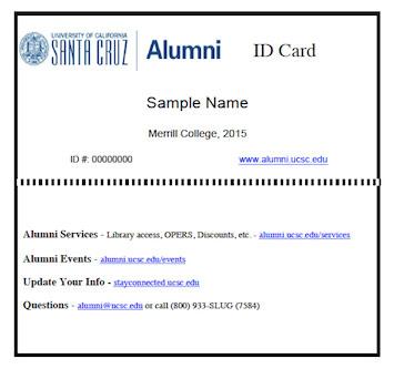 Uc Santa Cruz Alumni Id Card